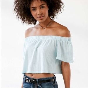 Urban Outfitters Off The Shoulder Crop Top